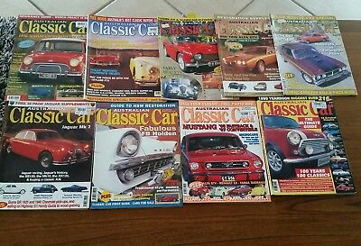 Australian Classic Car Mags 8 mags 1997 -2000  will separate