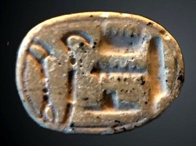 ANCIENT EGYPTIAN SCARAB; PRENOMEN OF AMENHOTEP III, 1386 - 1349 B.C. Rare!
