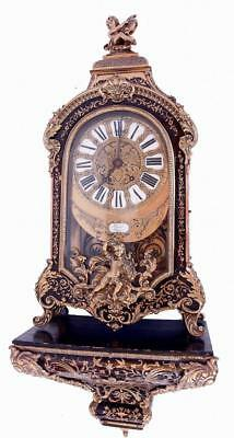Roblin & Fils Freres Thurit Paris Antique Rococo 8 Day Boulle Bracket Clock 36""
