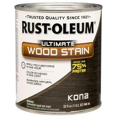 Rust-Oleum 260154 Ultimate Wood Stain, Quart, Kona New