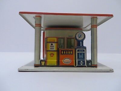 Vintage Fischer Aral Shell Essolub Petrol Station Tin Made in Western Germany