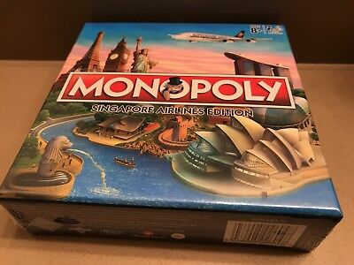 Brand new Singapore Airlines SQ 2017 edition Monopoly Sealed collectible