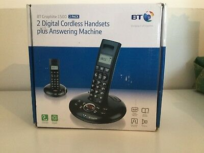 BT GRAPHITE 1500 ANSWERING MACHINE With DIGITAL CORDLESS HANDSETS