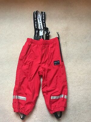 Polarn O Pyret Red Waterproof Trousers