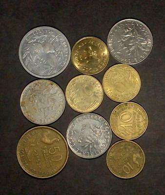 Good selection of coins from France (40g)