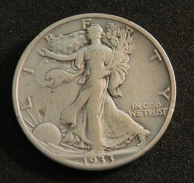 1933S Usa Walking Liberty Half Dollar In Excellent Condition