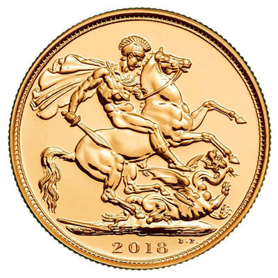 2018 Gold FULL Sovereign Queen Elizabeth II FIFTH PORTRAIT Global Shipping