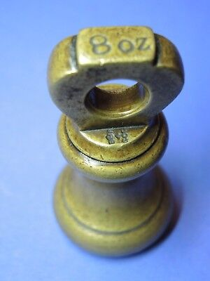 ORIGINAL ALTES GLOCKEN GEWICHT ENGLAND  8 oz BELL WEIGHT POIDS