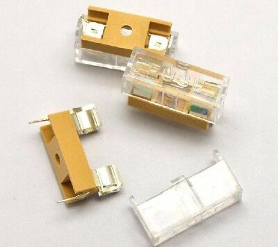 10pcs 5*20 Fuse Holder with Transparent Cover Fuse Box Fuse Holder