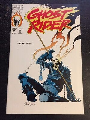 Ghost Rider#21 Incredible Condition 9.4(1992) Wagner Art!!