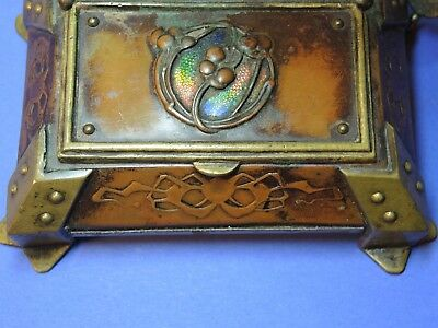 Antique Postal Scales Art Nouveau With Stamp Box Scale Pese Lettres Briefwaage