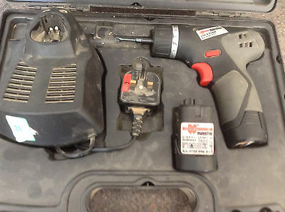 Wurth 10.8v cordless screwdriver 2 x batteries + charger like bosch / makita