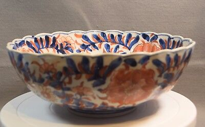 A Large Hand Painted Oriental Imari Bowl