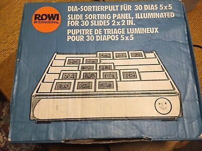 Rowi DIA-Sortierpult slide sorting panel pupitre triage diapost mit OVP