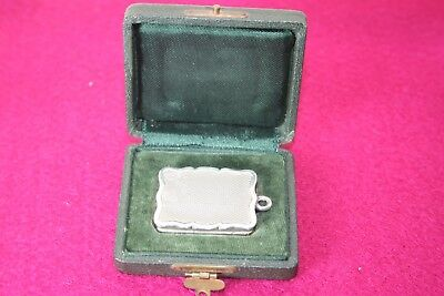 19Th Cent Solid Silver Vinaigrette In Original Case 1879 Hilliard Thomason