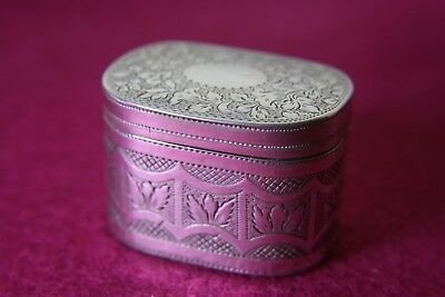 18Th Cent Solid Silver Vinaigrette Deep Shape Birm 1797
