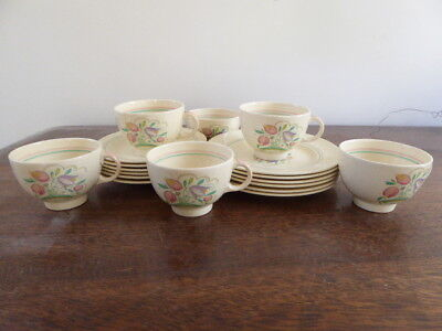 Susie Cooper Dresden Pattern  6 Tea Cups saucers and plates  1930's