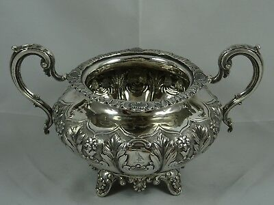 IRISH  , VICTORIAN silver SUGAR BOWL, 1855, 513gm