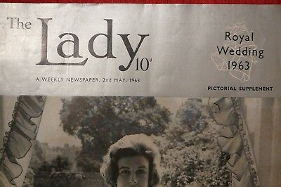 Vintage - The Lady Magazine - May 1963 - Royal Wedding Pictorial Supplement