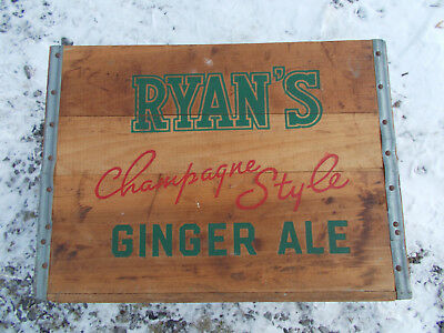 Vintage Buffalo, NY Area Johnnie Ryan Wooden Ginger Ale Soda Crate, Very Nice