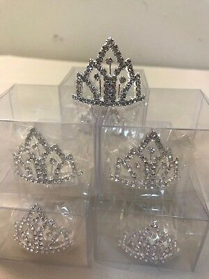 Baby Rhinestone Tiara with comb (Birthday, party, flower girl)  LOT of 8 pieces