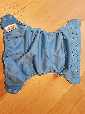 6 x blue bumgenius flip nappy wraps/outer layers - used