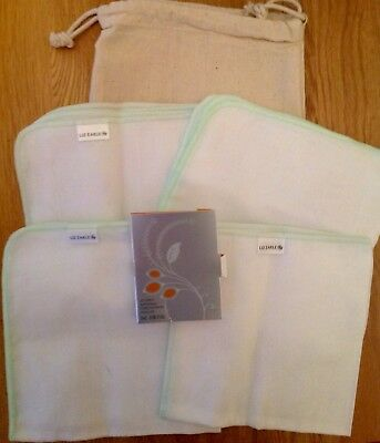 Liz Earle 4 Muslin Cloths, 2ml Skin Concentrate With Drawstring Bag