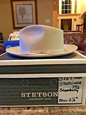"Stetson ""stratoliner"" Royal Stetson Silverbelly Size 7 1/2 Great Fedora!"