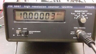 Mini Frequenzzähler Frequency Counter Philips PM6667