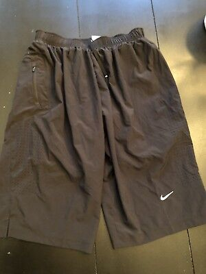 NIKE DRI-FIT Black RUNNING ATHLETIC GYM WORKOUT SHORTS MEN'S SIZE Small - S