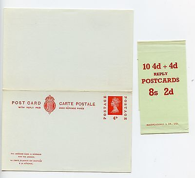 GB postal stationery postcard CP117 unused + packet band (M766)