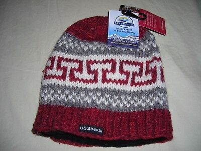 NWT  Wool Sherpa  Beanie Hat fleece Lined