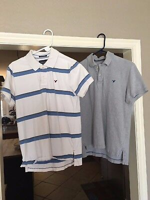 Mens Lot Of Two Polo Shirts Med. American Eagle, Vintage Fit