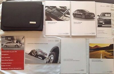 Original OEM 2016 AUDI A6 S6 Owners Manual Instructions Book Set w/ Case