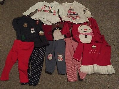Girls 12 to 18 months Christmas clothes - mainly Next - good used condition