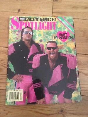 Wwe Wwf Spotlight Magazine Hart Foundation Bret Hart Jim Anvil With Poster