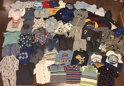 Baby Boys Clothes Bundle 12-18 Months Over 60 Items Including Disney & Next