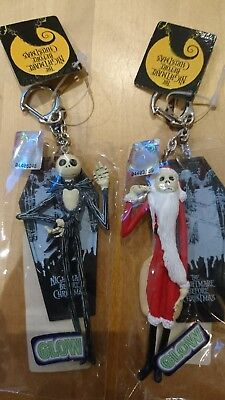 Nightmare Before Christmas Jack and Santa Jack Key Chains.New with Tags.Disney