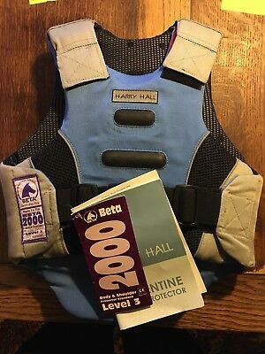 Harry Hall Body Protector Level 3 Size Child's Small Blue