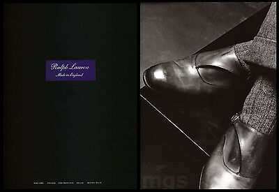 Ralph Lauren Shoes 2-page print ad 2000 Men's Fashion - Made in England