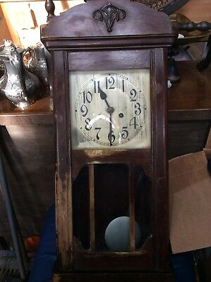 Antique Oak Cased Wall Clock