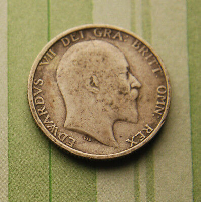 GREAT BRITAIN 1910 1 Shilling SILVER British UK United Kingdom Coin Very Nice