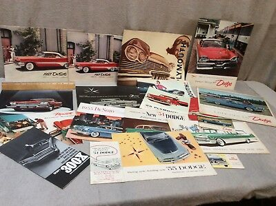 CHRYSLER DODGE DESOTO PLYMOUTH 1954 - 1960's BROCHURES  LOT OF 19 pcs NO RESERVE