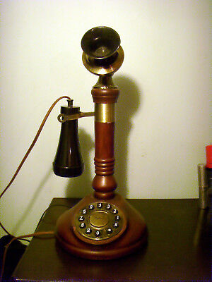 Retro Modern candle stick phone touch button