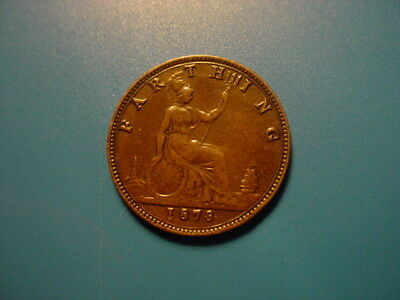 British 1878 Farthing In Very Nice Condition