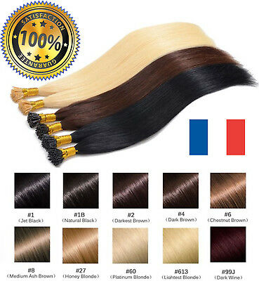 1g EXTENSIONS CHEVEUX REMY POSE A CHAUD 100% NATURELS