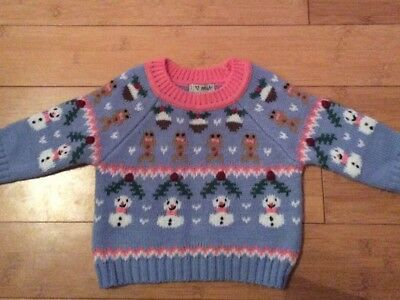 NEXT Girls Xmas Jumper Day 6-9 Months
