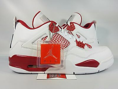 huge selection of 2bdd3 12167 Nike Air Jordan IV 4 Retro ALTERNATE 89 WHITE BLACK GYM RED 308497-106 sz
