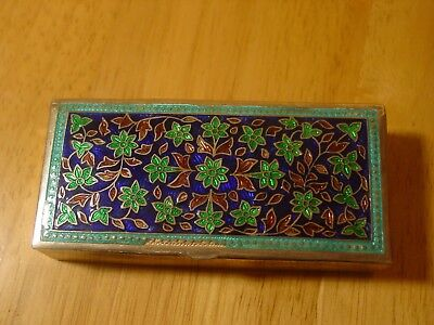 Vintage Sterling Silver  Enamelled  Box