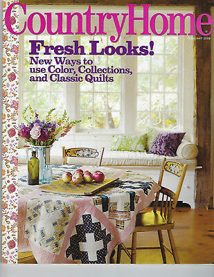 COUNTRY HOME~Fresh Looks~Storage~Recipes~Winter~Classic Quilts~February 2008
